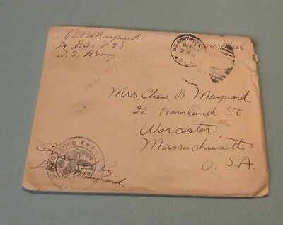 1918 US Army Lieutenant AEF Censored Letter APO 798 Bill for French Stove