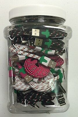 40 Pack iPhone 5-6 And 4 Phone Chargers Black White Pink ASSORTED FOR RESALE