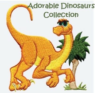 Adorable Dinosaurs Collection - Machine Embroidery Designs On Cd