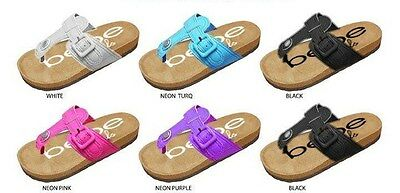 New  Wholesale Lot 36 Pairs bebe Girls Thong Sandals with Matching Buckle