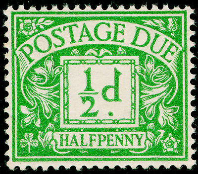 SgD27, ½d emerald, UNMOUNTED MINT. Cat £13. WMK GVIR