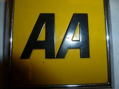 Aa Automobile Square Badge With Back Plate