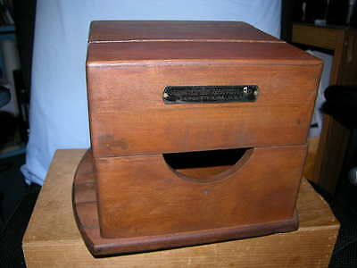 Antique Original Hamilton Watch Co. Chromometer Wood Plank Box or Case