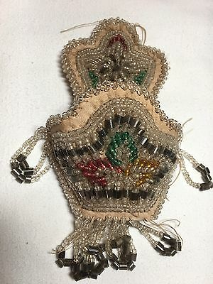 Iroquois Indians Beaded Work Wall Pocket Native American Confederacy
