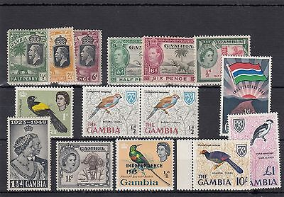 Gambia.15 -- G5/6/qe2 Mounted Mint Stamps On Stockcard.some Umm.