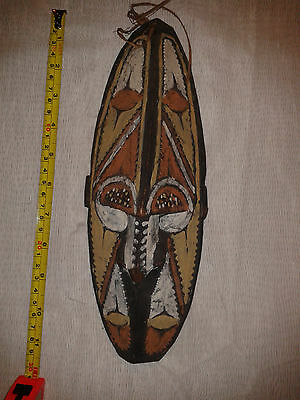 Mid 20Th C? New Guinea Wood & Painted Mask.