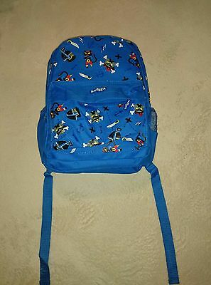 Smiggle blue pirate themed backpack