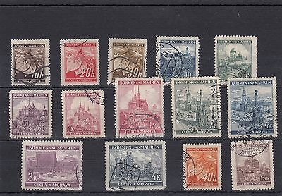 Czechoslovakia.14 -- Used Middle Period Stamps On Stockcard.