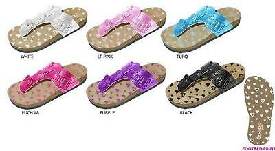 New  Wholesale Lot 36 Pairs Bebe Girls Footbed Sandals with Flowers