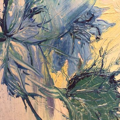 Thistle Original Oil Painting on board signed