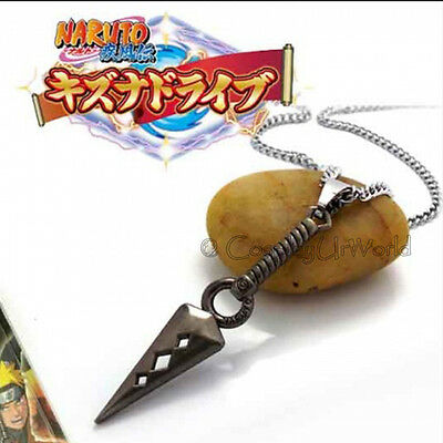 Anime Naruto Manga Series Ninja Hokage Kunai Charm Pendant Necklace Cosplay New