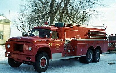 1970 Ford Central Fire Truck Columbus Wisconsin Factory Photo ca6400