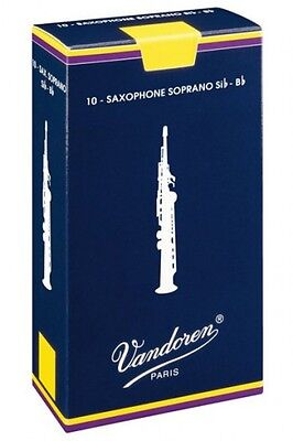 VANDOREN TRADITIONAL SOPRANO SAX REED - SINGLE (Free postage for any additional)