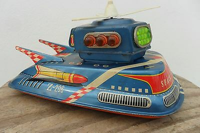 Rare Space Ship Flash Space Patrol by TPS Toys Made in Japan 1960's