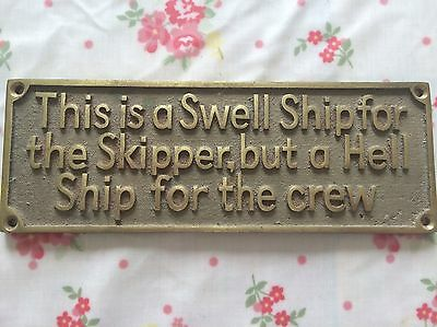 Boat Brass Plaque