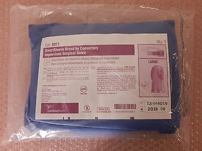 CARDINAL SmartSleeve Convertors Impervious Surgical Gown #9011 LARGE