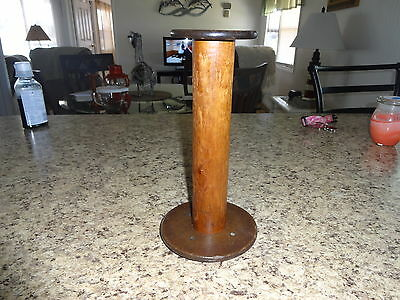 Vintage Wood Spool ( 9 inches tall)