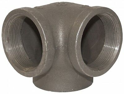 """2"""" Side Outlet Elbow DEG 90° BLACK MALLEABLE IRON fitting pipe npt"""