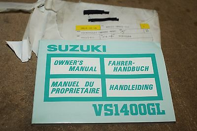 Suzuki  Genuine  Vs1400Gl 88  Owners Book Manual 99011-38B52-01U