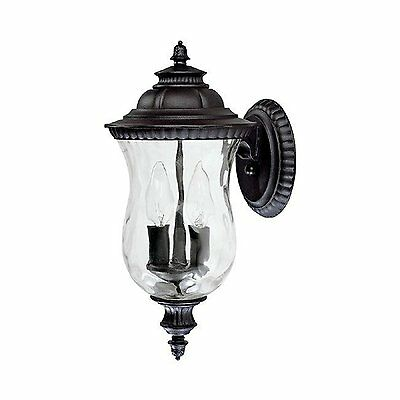Capital Lighting 9781BK - Ashford 2 Lamp Outdoor Wall Lantern, Black