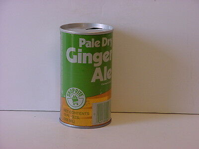 Vintage Shop Rite Ginger Ale Straight Steel Pull Tab Soda Can Top Opened