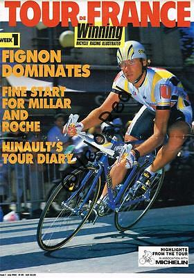 Various WINNING Tour de France supplements from 1986 to 1993