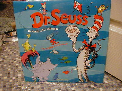 Dr Seuss 2011 Calendar Brand New And Sealed! Very Rare & Collectible