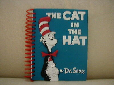 Dr Seuss Cat In The Hat Small 3D Effect Rubber Notebook Brand New Rare