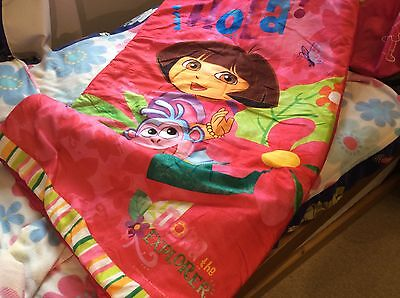 Dora The Explorer Toddler Girls Sleeping Bag With Bag