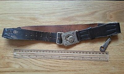 An Old Girl Guides Association Official Pattern Leather Belt