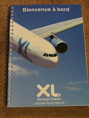 Xl France Airlines Spiral Note Pad Brand New Mint