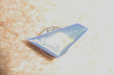 Smart Blue Icelandic Airlines Pin Badge New  Mint