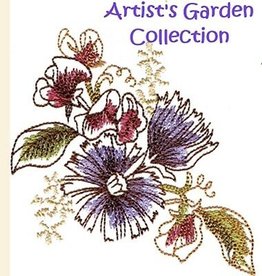 Artist's Garden Collection - Machine Embroidery Designs On Cd