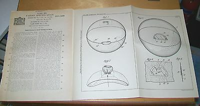 Beach Or Play Balls Patent. Suttle, Cambridge. 1933