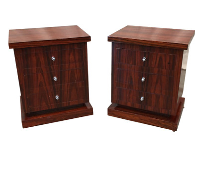 Vintage Art Deco Single Drawer Nightstand Art Moderne Side Tables