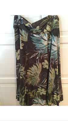 Women's Laura skirt Size large Floral brown printed