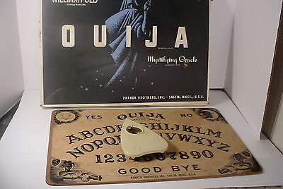 Vintage William Fuld Parker Brothers OUIJA BOARD Game Box & Planchette