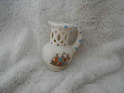 Vintage RARE Puzzle Cup by OLD ENGLISH South Kensington MUSEUM 8cms CERAMIC