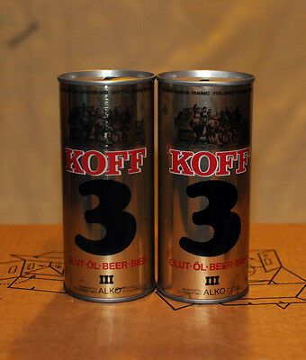 Koff 3 SS beer cans from Finland