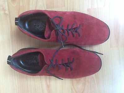 Ecco Soft Ladies Red Suede Shoes 39 Size 6