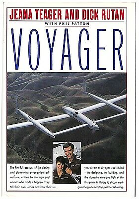 Test Pilot Jeana Yeager Dick and Designer Burt Rutan Signed Voyager Book 1st Ed.