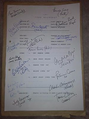 Signed script of The Archers bbc radio 4 VHTF episode 11367 from 1994