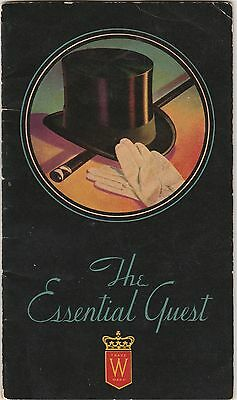 Hiram Walker 1934 Bartender's Guide The Essential Guest Canadian Club