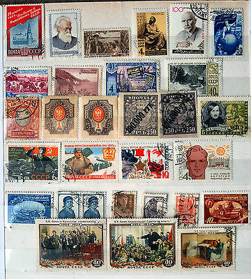 Collection Of Used & Mounted Mint Russian Stamps.