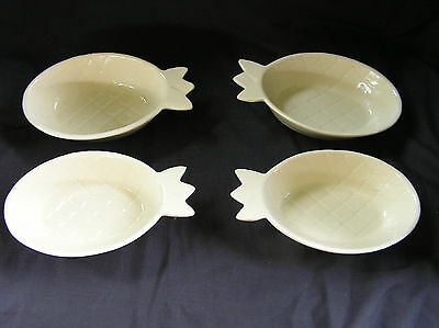 """4 McCoy Pottery Pineapple Dishes, 8x5"""", NICE!"""