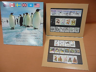 Joint Issue Our World Images of Nature 6 Countries Stamps & book