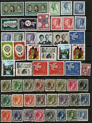 Luxembourg - MNH & Used Collection on stock sheets
