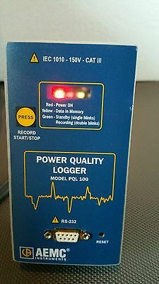 AEMC Power Quality Logger Model PQL-100 -Used