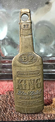 Bottle-shaped You Pay Spinner BROWN-FORMAN DISTILLERS KING WHISKEY LOUISVILLE KY