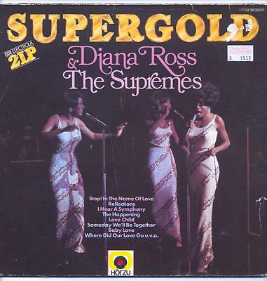 """Diana Ross And The Supremes - Supergold - 12"""" Vinyl Lp (Double, Germany)"""